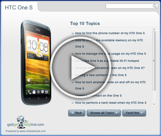 Click to open interactive manual htc one s htc one