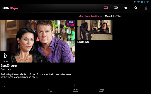 iPlayer Android tablet