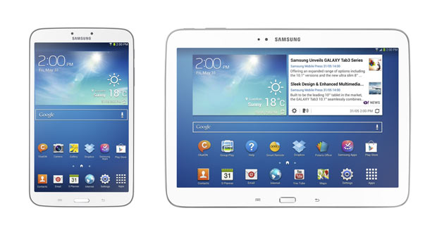 Samsung tablet sizes