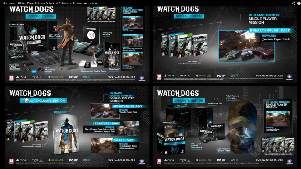 Watch Dogs  Bonuses
