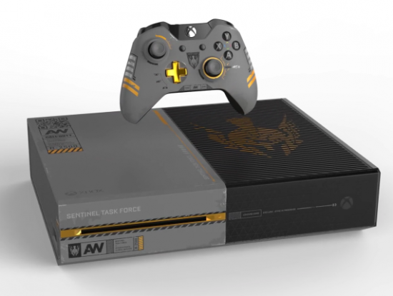 The awesome COD Advanced Warfare special edition bundle and console.