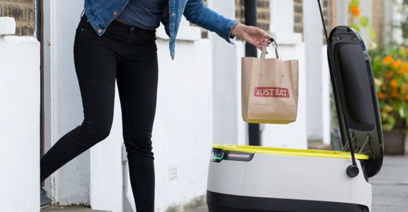 just eat to roll out fast food delivery robots in the uk. Black Bedroom Furniture Sets. Home Design Ideas
